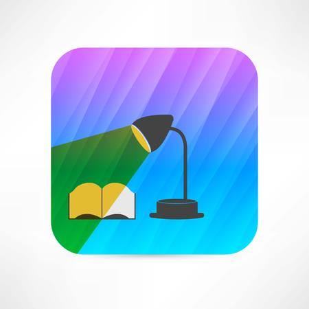 flexible business: table lamp icon