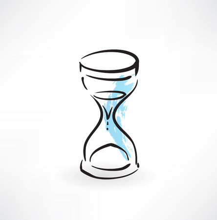 hourglass grunge icon Vector