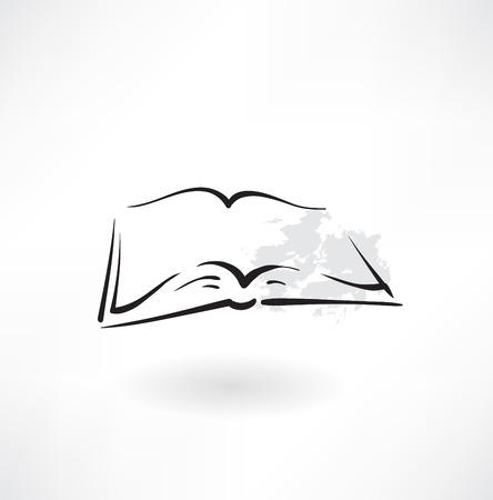 Abierta icono de libro del grunge Foto de archivo - 27527469