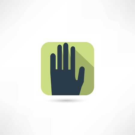 human palm icon Vector
