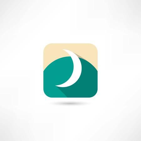 crescent: crescent icon