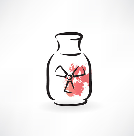 jar of radiation grunge icon