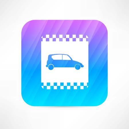 street lamp: taxi icon Illustration