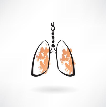 肺のアイコン  イラスト・ベクター素材