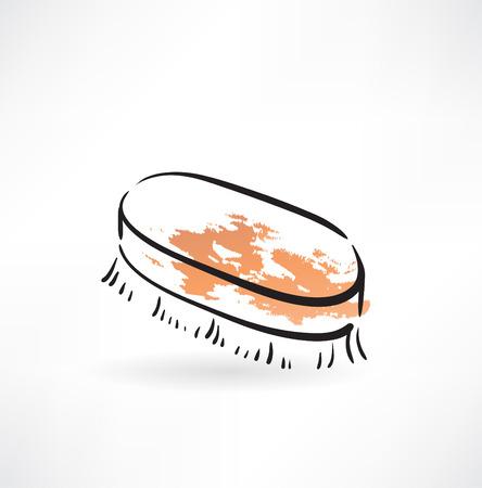 wiper: fetlock grunge icon Illustration