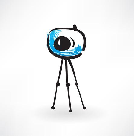 photo camera grunge icon Иллюстрация