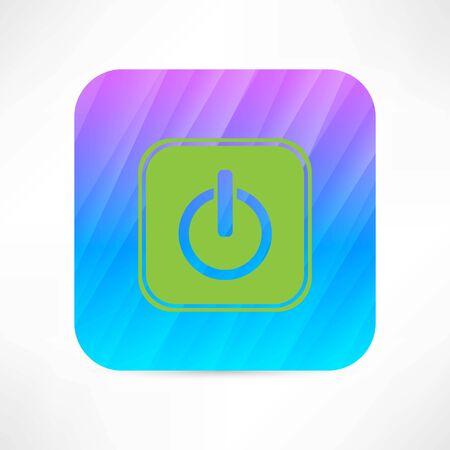 boton on off: off bot�n con el icono Vectores