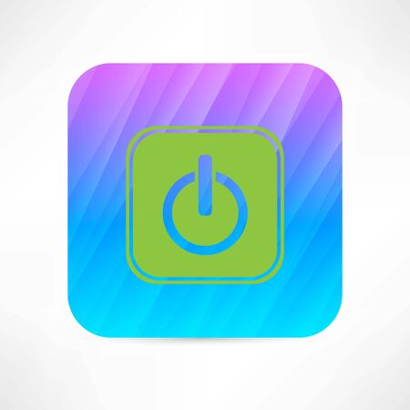 running off: off button icon Illustration
