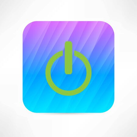 running off: power button icon
