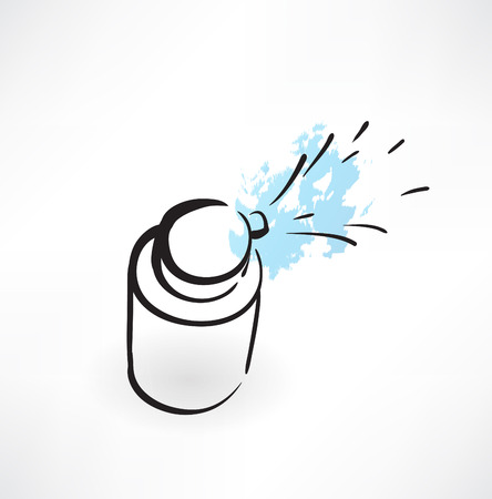 hand wash: medical spray grunge icon