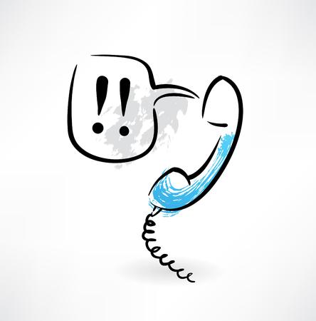 PHONE LINE: handset grunge icon