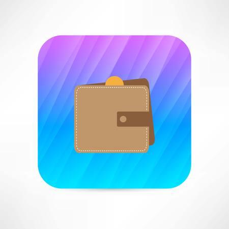 notecase: wallet grunge icon