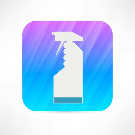 customisable: cleaning spray icon