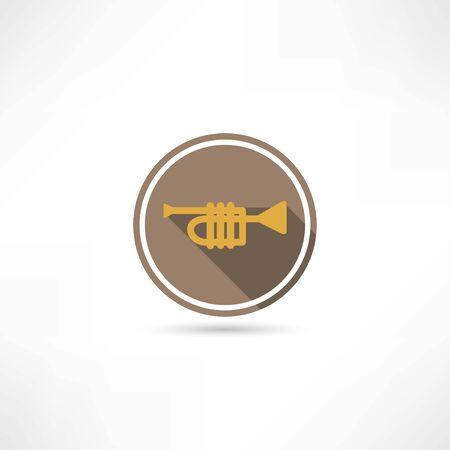 clarinet player: trumpet icon Illustration