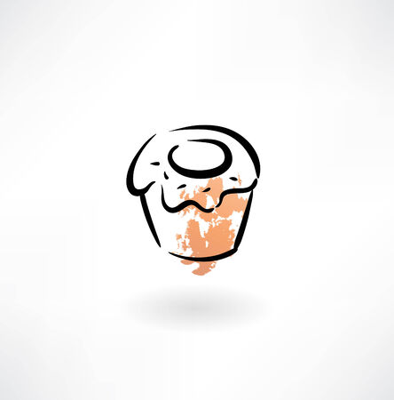 muffin grunge icon Vector