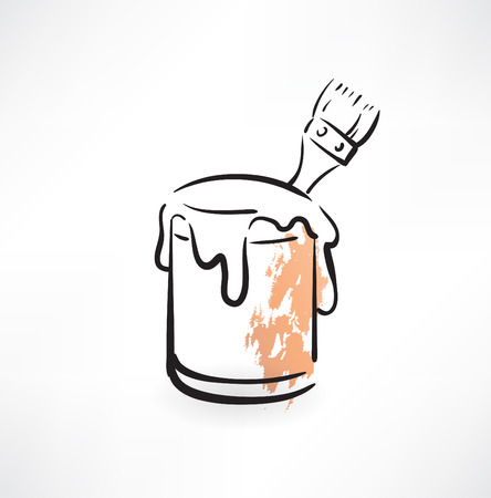 paint container: paint bucket grunge icon
