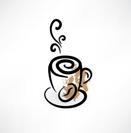 cup of coffee grunge icon