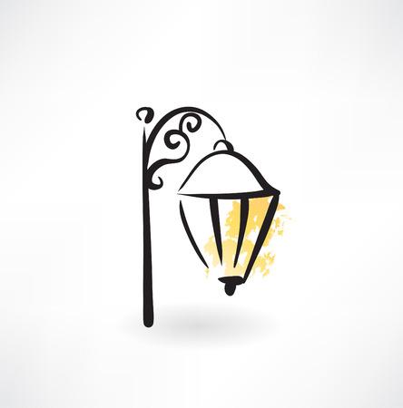 street lamp: streetlight grunge icon