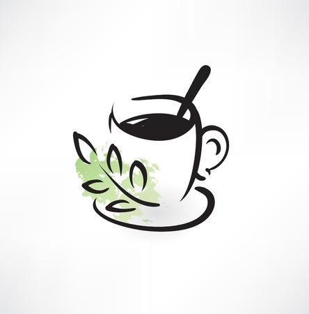 spearmint: herbal tea grunge icon