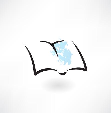 periodical: notebook grunge icon Illustration