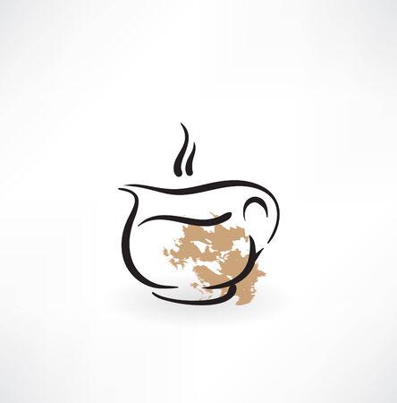 coffee grunge icon Vector