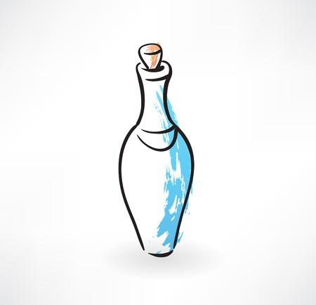 distill: glass bottle grunge icon