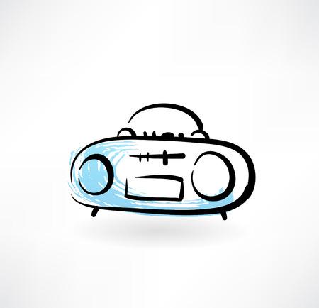 flicking: recorder grunge icon Illustration