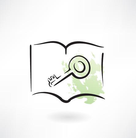public folder: key grunge icon Illustration