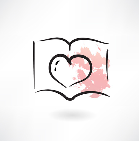 romance: heart grunge icon Illustration