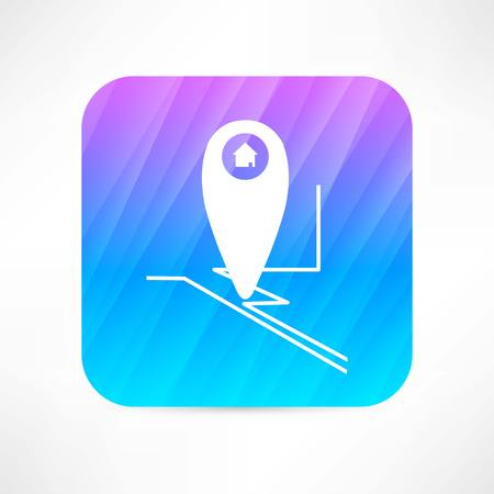 global positioning system: gps mark icon