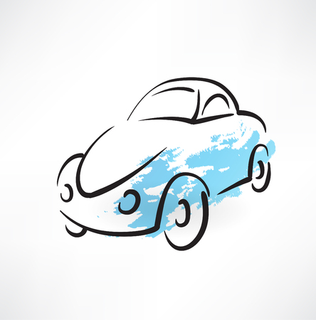 car grunge icon Vector