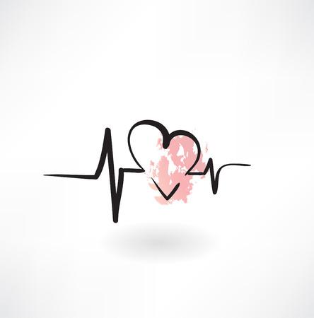 cardiology grunge icon Illustration