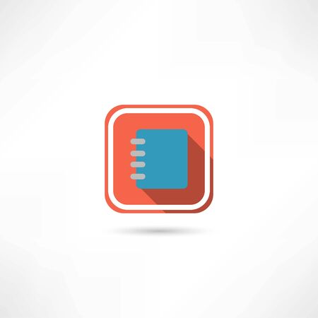 pocketbook: notebook icon Illustration