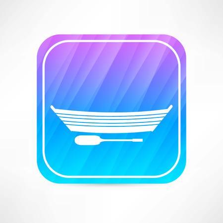 rowboat: barco icono Vectores