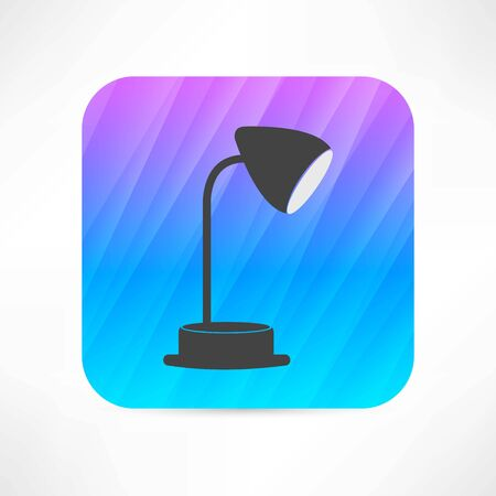 reading lamp: table lamp icon