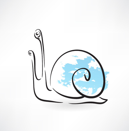 snail grunge icon Vector