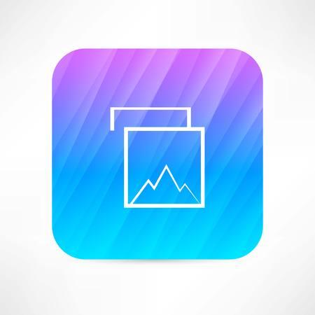 mountain icon Illustration