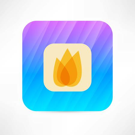gas fireplace: flame icon