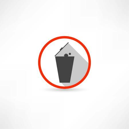 trashcan icon Illustration