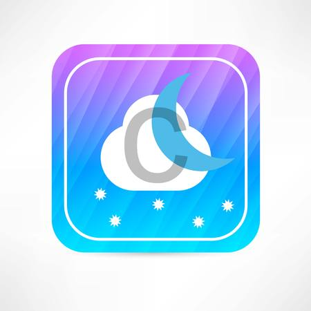 hailstorm: night weather forecast icon Illustration