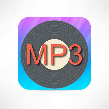 mp3 ディスクのアイコン  イラスト・ベクター素材