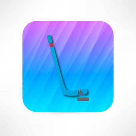 puck: hockey stick icon
