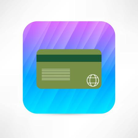 plastic card: Plastic card icon Illustration