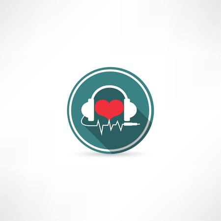 earphones: headphones and heart icon