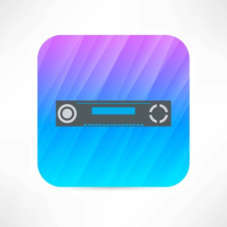 tv unit: dvd player icon