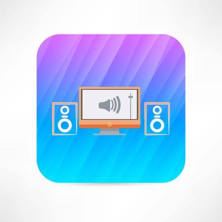 home Theater icon Vector