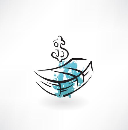 cash grunge icon
