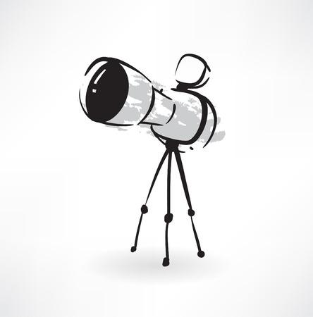 optics grunge icon Illustration
