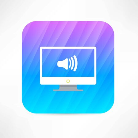 volume on the tv icon Vector