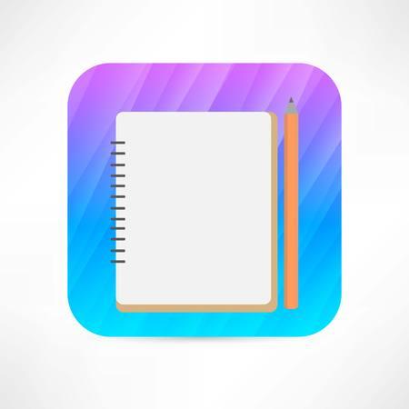 pad: notebook icon Illustration